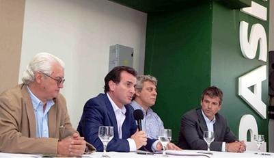 Mendoza 3-12-13 firmará un convenio con las autoridades de la empresa Belgrano Cargas y Logística SA y del PASIP Sr .Gobernador Francisco Perez , Intendente de san Martin Omar Gimenez  Mario Lingua Presidente del pasip